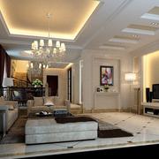 别墅大厅沙发布置图
