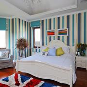 现代美式卧室壁纸