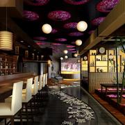 酒吧中式风格吊顶