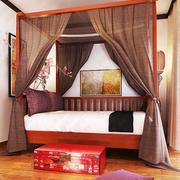 中式风格卧室床幔