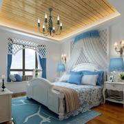 卧室自然木吊顶