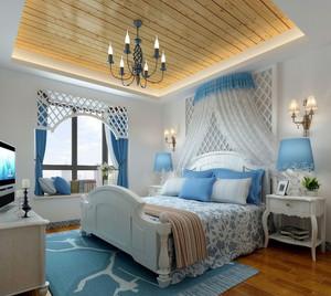 2015全新简约地中海风格卧室装修效果图