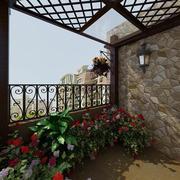 商品房阳台花束装扮
