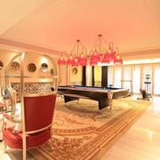 温馨时尚的家庭娱乐室