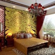 卧室菊花装饰画展示