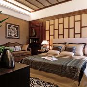 中式风格卧室床头