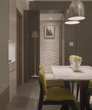 简约白色日式餐厅背景墙装修效果图