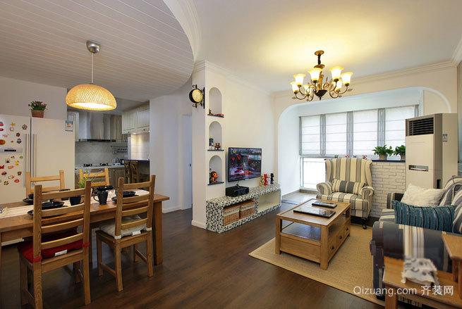 120平米引领都市生活后现代主义风格单身公寓装修效果图