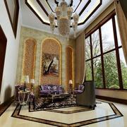 别墅客厅创意吊顶展示