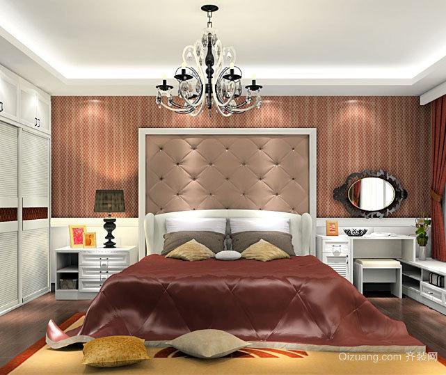 三室一厅浪漫简约韩式田园风格主卧装修效果图