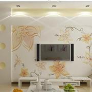 花样瓷砖电视墙设计