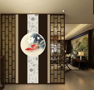 90平米经典雅致的都市玄关瓷砖背景墙装修效果图
