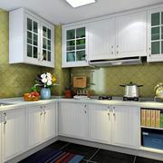L字型小厨房橱柜