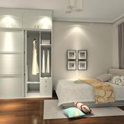 卧室白色衣柜图
