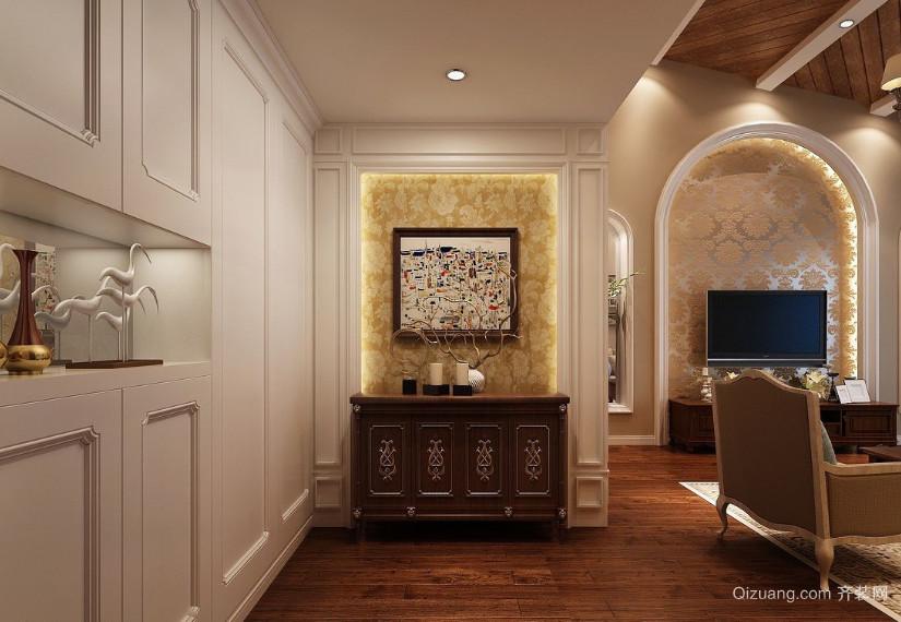 二室一厅美式玄关设计装修效果图