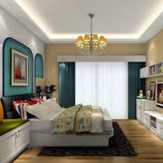 大户型卧室窗帘图