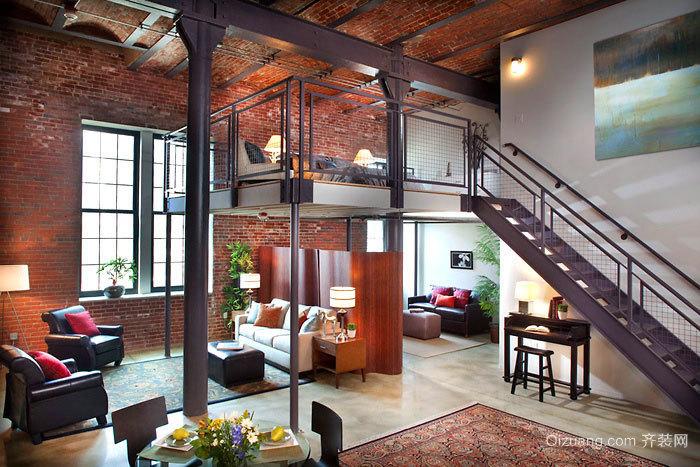 三室两厅两卫简约款单身公寓装修效果图