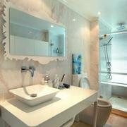 卫浴间淑女气质的洗手台
