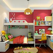 儿童卧室双层床