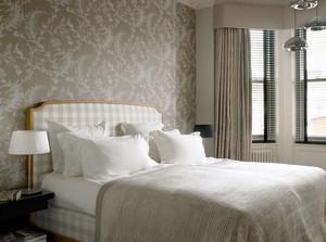 2015极具小资的现代卧室壁纸装修效果图大全