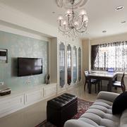 小户型客厅电视背景墙装潢