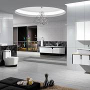 超大型灰白色调浴室