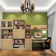 简单的一字型书房