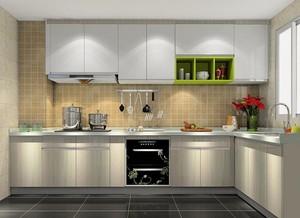 L型造价便宜小户型厨房橱柜装修效果图