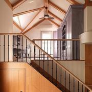 复式楼阁楼木质楼梯欣赏
