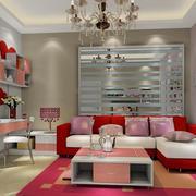 甜美个性的客厅背景墙