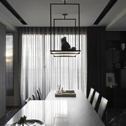 家居餐厅窗帘设计