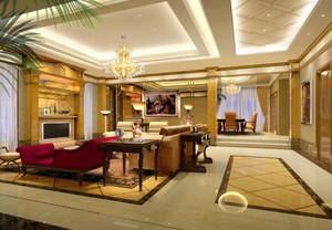 三室二厅奢华欧式罗马柱电视背景墙装修效果图大全