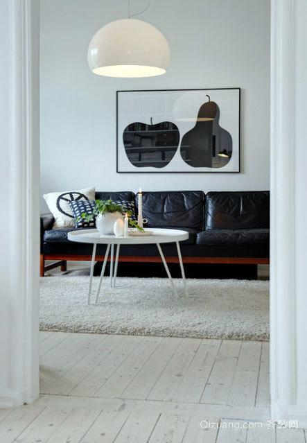 2015唯美时尚的现代客厅照片墙设计效果图