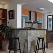 美式风格厨房餐厅吧台