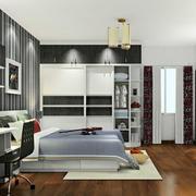 黑白系列的卧室
