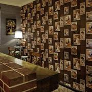 家居吧台照片墙装饰