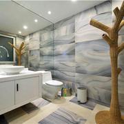 醒目的浴室墙面