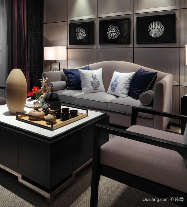 黑白新中式风格家居装修效果图