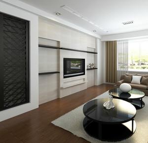 现代自建别墅隐形门背景墙装修效果图