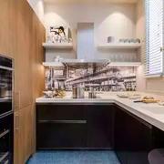房屋L字型厨房设计