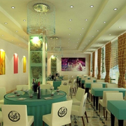 绿色有生机的餐馆
