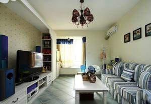 100平米混搭风格个性客厅装修效果图