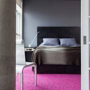 卧室紫色地毯展示