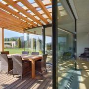 复式楼阳光房木质吊顶展示