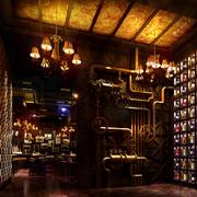 酒吧创意墙面展示