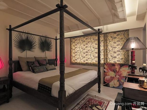 2015新款的东南亚风格卧室装修设计图片大全