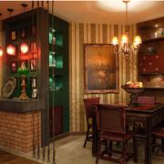 餐厅吧台酒柜设计