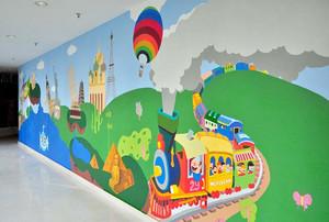 全新城市幼儿园壁画图片