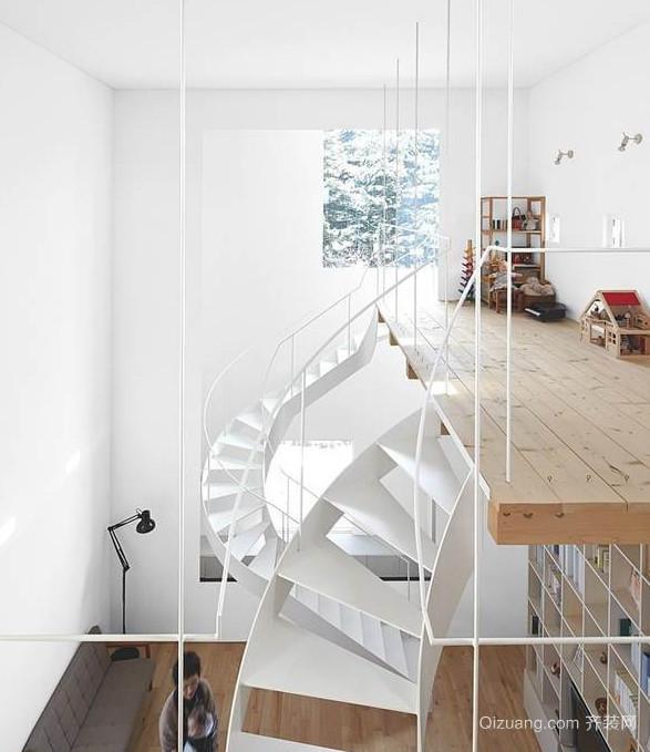 天然纯白的日式风格家居装修效果图