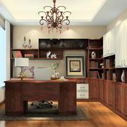 书房木质书桌欣赏